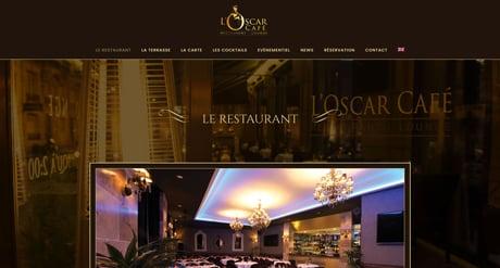 L'Oscar Café - Site Vitrine & Réservation